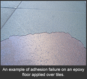 Epoxy Flooring Flaking Off A Tile Because Of Poor Adhesion