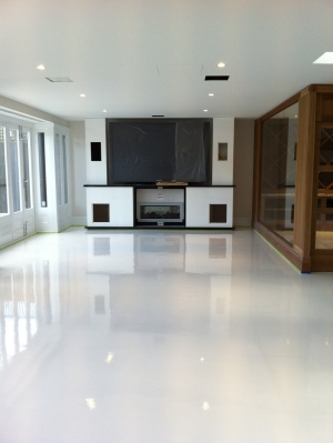Real World Epoxies Glossy White Floors