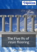 The Five Rs of resin flooring ebook icon.